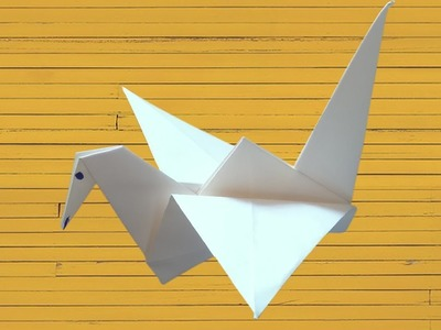 How To Make Origami Flapping brid With Paper | Make Paper Beautiful Crane Step By Step Youtube 2019