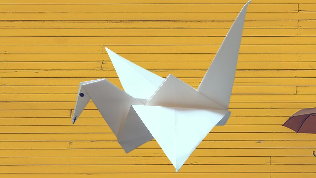 Awesome Of How To Make An Origami Bird Flapping Paper Crane Mobile | 720x1280