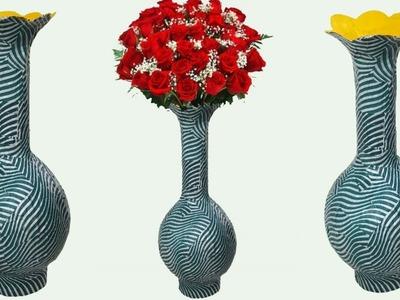 How to make paper flower vase ||new style flower vase||dustu pakhe