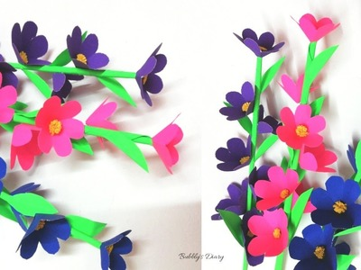 How to Make Paper Flowers - Decoration Ideas - Paper Crafts Flowers - DIY Room Decor