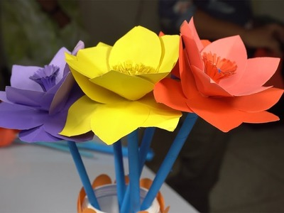 How To Make Paper Flowers | Origami DIY | Very Easy To Make