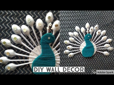 How to Make Peacock Wall Hanging   DIY Wall Decor   DIY Home Decor   parul pawar