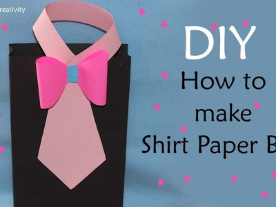 How to Make Shirt paper bag | Paper Bag Making At Home | DIY Paper Gift Bag |