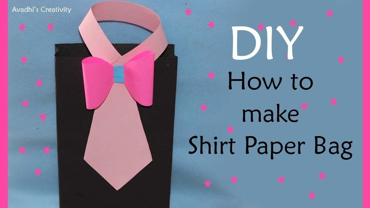 How to Make Shirt paper bag   Paper Bag Making At Home   DIY Paper Gift Bag  