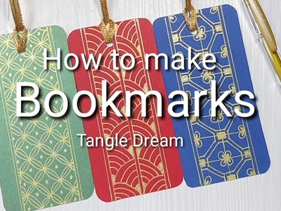 How to make Tangle-Bookmarks step by step
