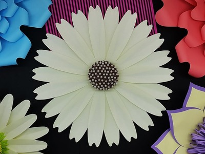Large Size Paper Flowers (Giant Flower) for Decoration | Paper Flower Backdrop
