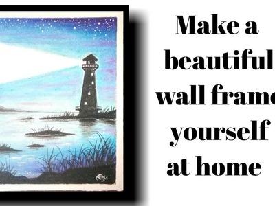 Lighthouse painting | scenary | DIY