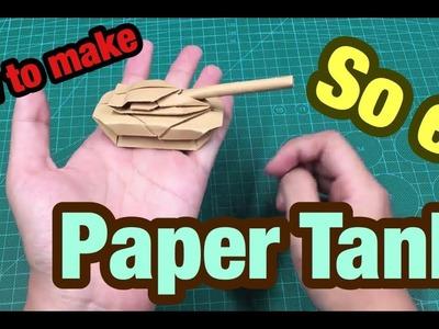 Paper tank. Origami tank (easy 2 minutes) | Paper tanks, Origami ... | 300x400