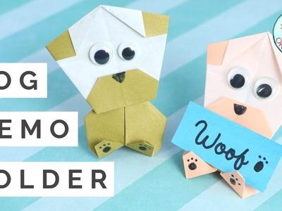 Origami Dog Memo Holder - Easy Paper Crafts for Kids!
