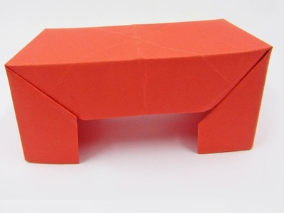Origami Table - How to make a paper Origami Table Tutorial - Mr.Paper Crafts