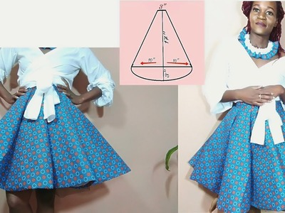 Panelled Circle skirt using ShweShwe Fabric DIY