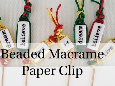 Paper Clip Art | Macrame with Beads