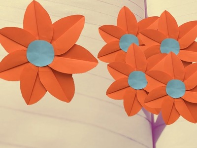 Fold origami flower - 7 ideas with folding instructions for ... | 300x400