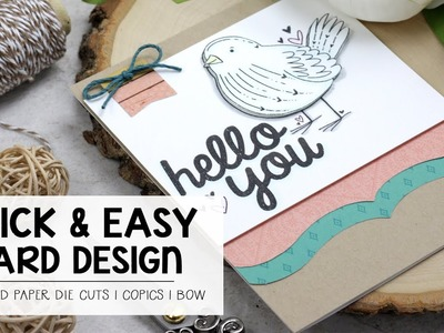 Quick & Easy Card Using Pattern Paper Die Cuts