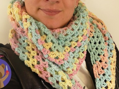 Spring Triangle Scarf | Pastel Colors, Easy Pattern | Rico Design
