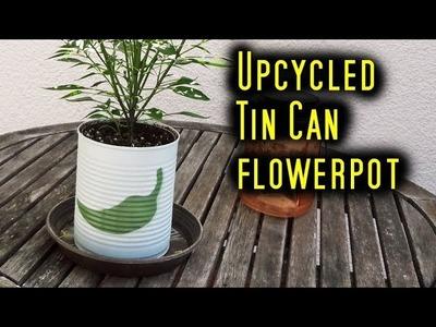 Tin Can Flowerpot - DIY. How To