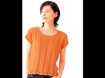 DIY蘇菲的編織—0118空花夏紗短袖上衣織圖分享(Knit figure sharing)