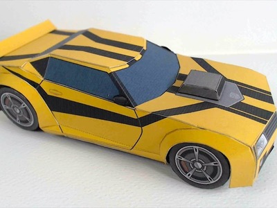 Transformers Bumblebee Car Papercraft | Easy DIY Bumblebee Car Paper Model | Paper Culture