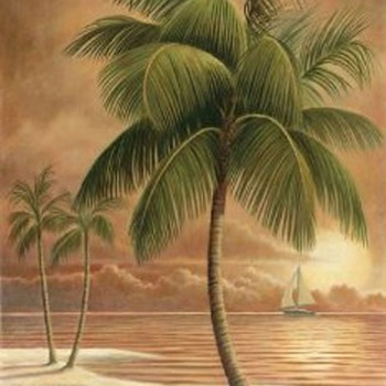 TropicaL PaLm Tree Cross Stitch Pattern***LOOK***