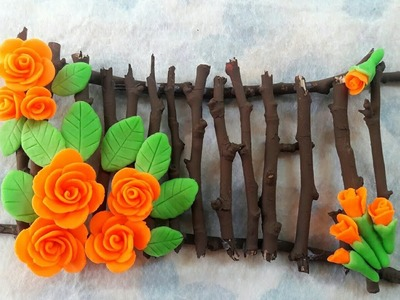 Wall Decor from Tree Branches or Twigs. Home Decoration idea. Recycle.