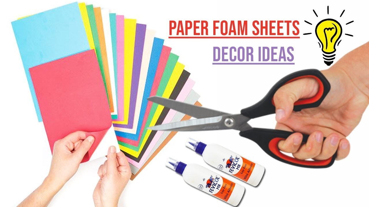 Wall hanging diy from paper foam sheet | Foam Sheet Decor Idea | DIY Wall Hanging