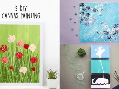 3 DIY Canvas Painting | Acrylic Painting | Home Decor