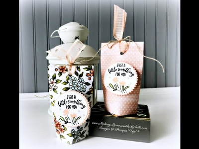 "6"" x 6"" Treat Bag with Bird Ballad Designer Series Paper"