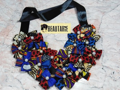 Another African Print Necklace-New Design