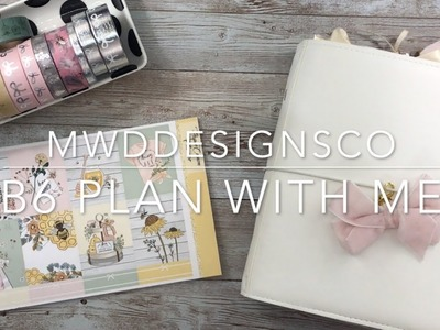 B6 PLAN WITH ME | Ft. Paper Crown Planner | Honey Bee