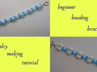 Beading tutorial for DIY Bracelets with beads. Beading for Beginners