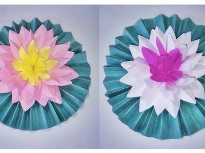 Beautiful Lotus Flower Making in Paper | ORIGAMI TULIP