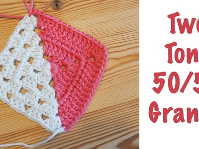 Blossom Crochet: Two Tone 50.50 Granny Squares! (EASY & beautiful!)