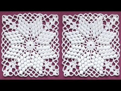 CROCHET  Motif Tutorial  How to crochet square motif PART 3
