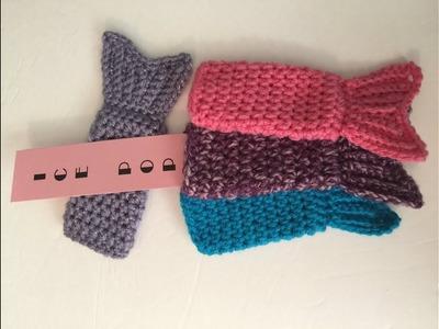 Crocheted Mermaid Tail Otter, Freezer, Ice Pop Cozy - Gogurt