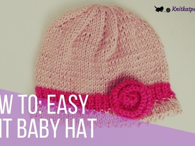 Denise - tutorial - easy and quick knit baby hat