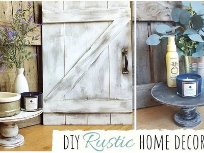 DIY HOME DECOR IDEAS | BARN DOOR | RUSTIC FARMHOUSE | PEDESTAL | TRAY | DECORATING | MICHAELS CRAFTS