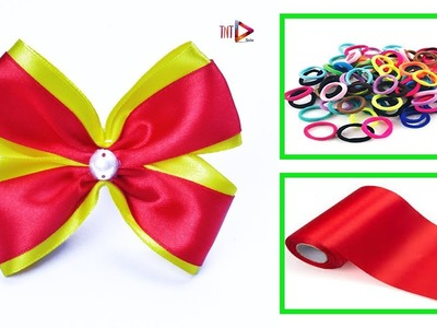 DIY Ribbon Band Hair Accessories Easy | Handmade Rubber Hair Band For Kids | V4