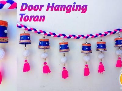 Door Hanging TORAN from Disposal Tea Glass for Door Decor | Beautiful Toran Design Ideas