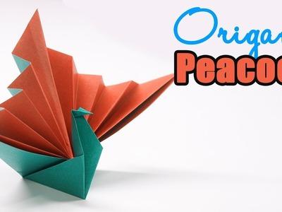 Easy origami paper Peacock - Cute origami