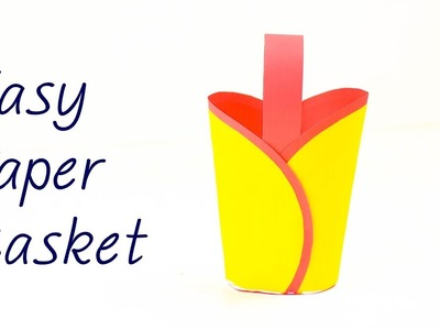 Easy Paper Basket Making at Home | How to Make Paper Basket Easy for Beginners | DIY Paper Basket