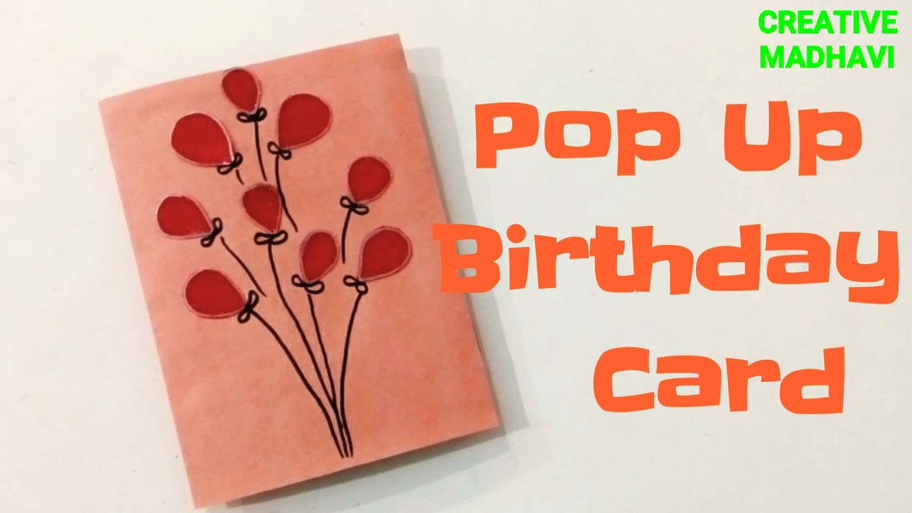 Easy Pop up Birthday Card for Beginners.Pop Up Birthday Card.Explosion Box.Scrapbook.CreativeMadhavi