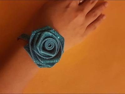 Glitter Foam Sheet Flowers Making | How to make Foam Sheet Flower Step by Step Easy Tutorial at Home