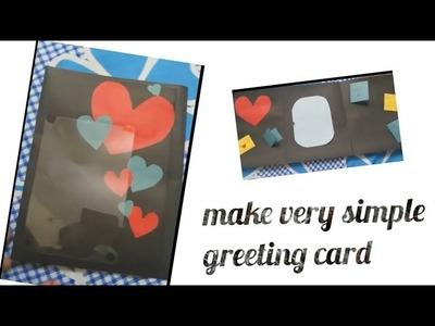 Greeting card diy cardboard