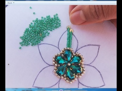 Hand Embroidery.embroidery flower,beads work for dress