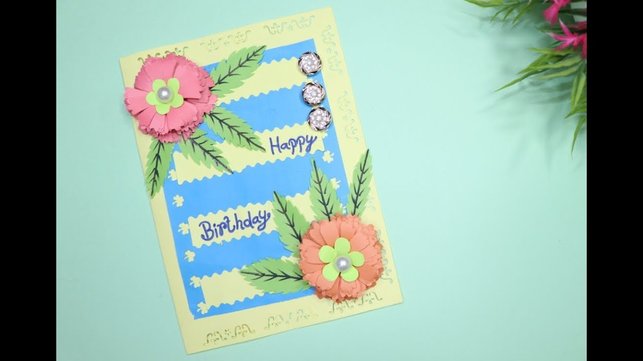 Happy Birthday Wishes Card   Happy Greeting Card   Hand Made Birthday Cards   Do It Yourself Crafts