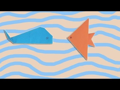 How to make a Paper Fish, Origami