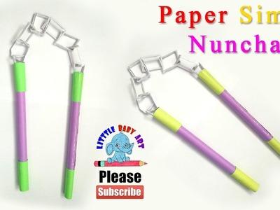 How to Make a Paper Simple Nunchakus | Ninja Nunchakus |  Easy paper Ninja Weapon |