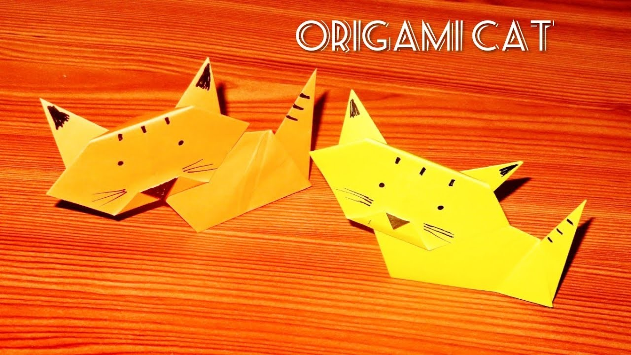 How to make an Origami Cat - Origami Folding Instructions |Origami Cat ????| Origami Paper Cat ????