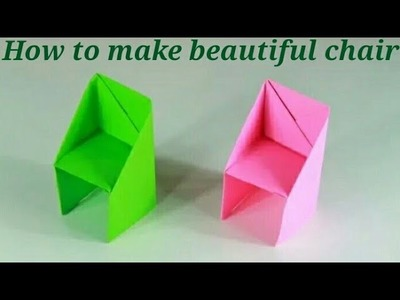 HOW to make beautiful chair with paper || very easy