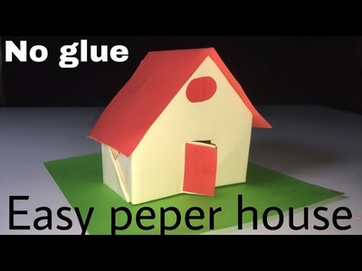 How to make easy paper house(no glue). paper house tutorials by BM and LH easy life